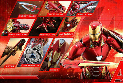 AU350.62 • Buy Hot Toys Avengers: Infinity War IRON MAN MARK L 50 ACCESSORIES 1/6 Scale ACS004