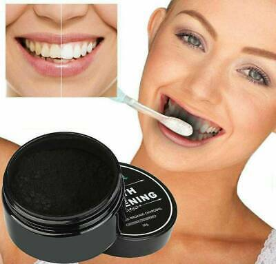 AU6.79 • Buy Activated Charcoal Powder Toothpaste Black Teeth Tooth Whitening Peel Off Shield