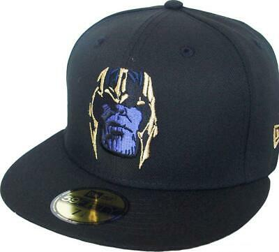 New Era Avengers Thanos Black Gold 59Fifty Fitted Cap Marvel Limited Edition • 46.37£