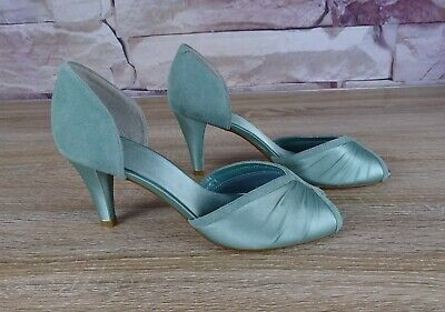 CLARKS Green Peep Toe 'Caruso' Shoes BNWT Party Occasion Wedding Size 5 1/2 • 21.99£