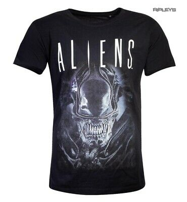 Official Black T Shirt ALIENS Movie H.R.Giger Xenomorph 'Say Cheese' All Sizes • 15.99£