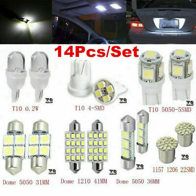 $2.86 • Buy 14PCS Car LED Interior For T10 36mm Map Dome License Plate Lights Accessories