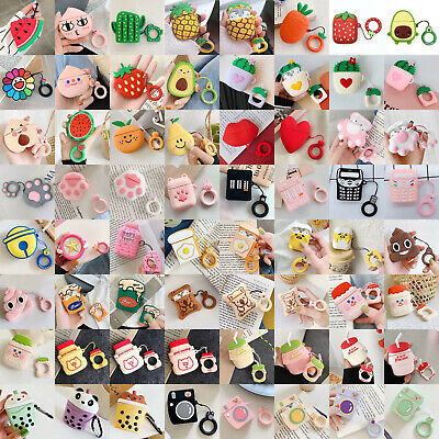 $ CDN7.02 • Buy Cute Fruits Cartoon Silicone Airpods Case For Apple Airpods Charging Accessories