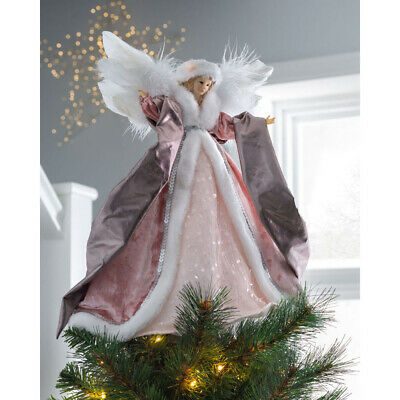 Christmas Angel Tree Topper Xmas Decoration Baby Pink • 19.99£