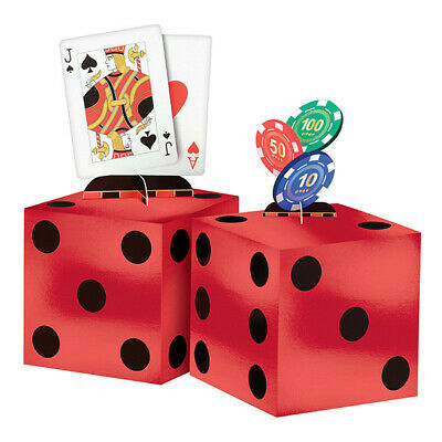 $14.99 • Buy CASINO CENTERPIECE TABLE DECORATING KIT Party Room Decorations Poker Dice Cards