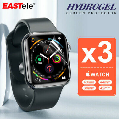 AU7.95 • Buy 3x For Apple Watch 6 5 4 3 2 SE 44/40/42/38mm IWatch HYDROGEL Screen Protector