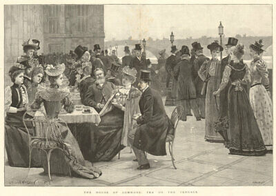 £29.99 • Buy The House Of Commons: Tea On The Terrace. London. Society 1893 ILN Full Page