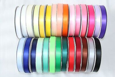Double Sided Satin Ribbon 10 METRE ROLL In 6mm 10mm 15mm & 25mm Widths 3 For 2 • 2.89£