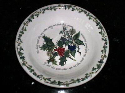 Portmeirion THE HOLLY AND THE IVY  -  10  Pasta / Low Bowl • 35$