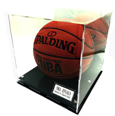 Full Size Nba Basketball Soccer Volleyball Display Case Stand W/ Name Tag Holder • 44.99$