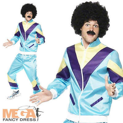 Deluxe Shell Suit 80's Scouser Fancy Dress Mens Costume • 22.99£