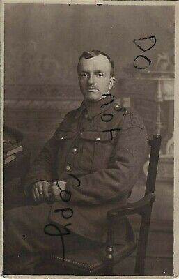WW1 Soldier Lancashire Fusiliers Wearing Unusual Cloth Economy Title Wigan Photo • 14.99£