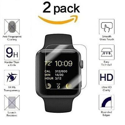 $ CDN1.29 • Buy For Apple Watch Series 5/4/3/2/1 HD 9H Tempered Glass Screen Protector Film Lot