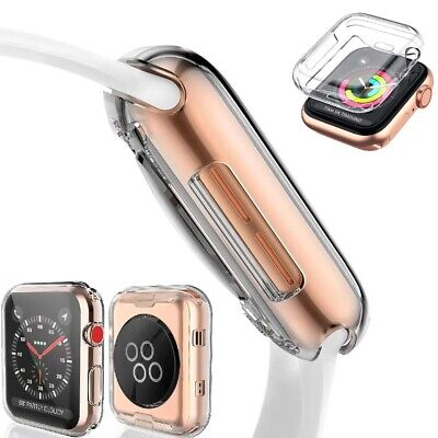 $ CDN2.33 • Buy For IWatch Apple Watch Series 5 4 3 2 TPU  ScreenProtector Cover Case 40mm 44mm