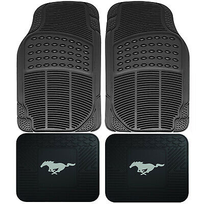 $42.98 • Buy 4pc Front Rear Car Truck All Weather Rubber Floor Mats Set FORD MUSTANG Utility
