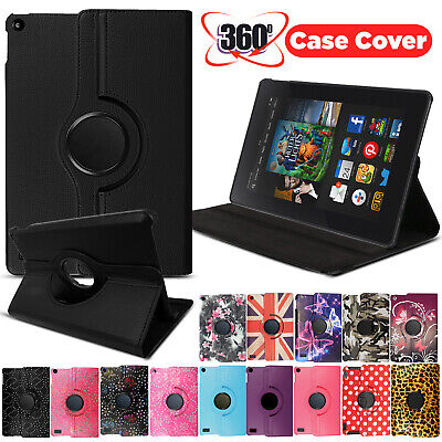 £3.99 • Buy For Amazon Kindle Fire 7 HD 8 10 Tablet Case 360 Rotating Leather Stand Cover