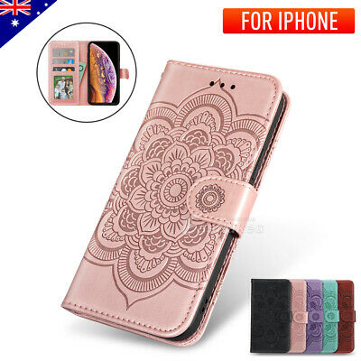 AU8.65 • Buy IPhone 12 Pro Max Mini 11 XS XR Leather Wallet Shockproof Case Cover For Apple