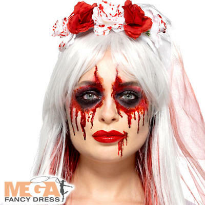 Blood Drip Bride Cosmetic Kit Ladies Fancy Dress Gory Halloween Costume Make Up  • 8.49£
