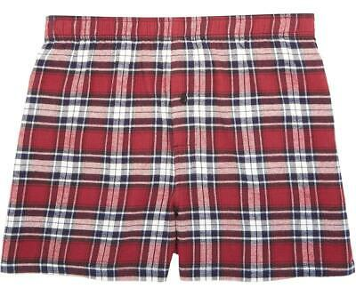 $28.99 • Buy Big Dogs Flannel Boxers 2X Red White Navy Plaid 100% Cotton 1 Button Fly Elastic