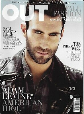 AU17.15 • Buy Adam Levine Out Gay Magazine Fall Fashion Nikki Araguz Tom Cullen Anna Faris