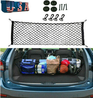 $14.81 • Buy Universal Parts Car Rear Cargo Storage Organizer Elastic Mesh Net Plus Mounting