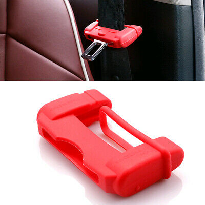 $2.42 • Buy 1x Car Safty Accessories Seat Belt Buckle Clip Silicone Anti-Scratch Cover Red