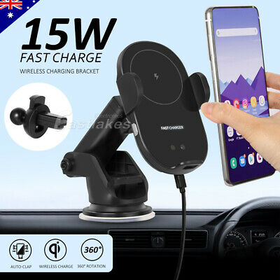 AU33.95 • Buy Automatic Clamping Wireless QI Car Charge Charger Mount Air Vent Phone Holder