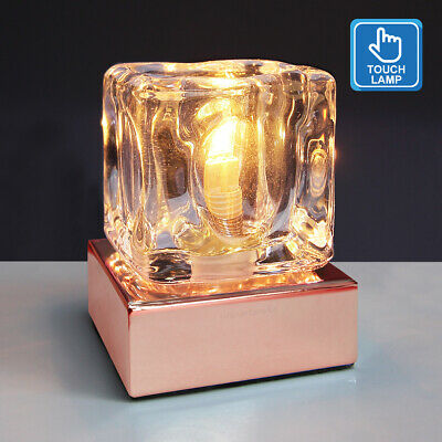 £15.99 • Buy Dimmable Touch Table Light Glass Ice Cube Bedside Study Office Dimmer Lamp M0111