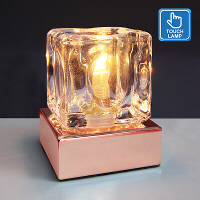 £13.99 • Buy Dimmable Touch Table Light Glass Ice Cube Bedside Study Office Dimmer Lamp M0111