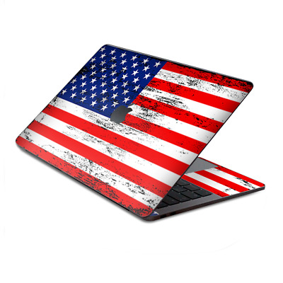 $15.98 • Buy Skin Decal Wrap For MacBook Pro 13  Retina Touch  American Flag Distressed