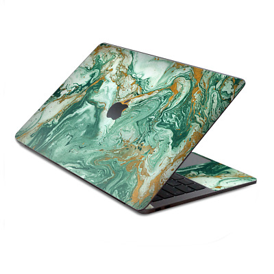 $15.98 • Buy Skin Decal Wrap For MacBook Pro 13  Retina Touch  Marble Paint Swirls Green