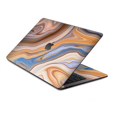 $15.98 • Buy Skin Decal Wrap For MacBook Pro 13  Retina Touch  Brown Blue Marble Glass