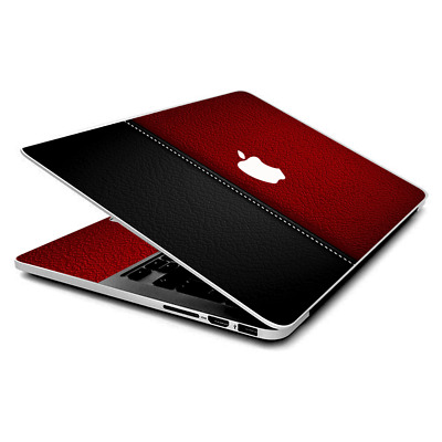 $16.98 • Buy Skin Wrap For MacBook Pro 15 Inch Retina  Black And Red Leather Pattern
