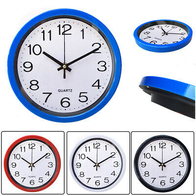 AU11.49 • Buy Wall Clock Quartz Round Wall Clock Silent Non Ticking Battery Operated 20CM