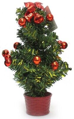 30cm Small Table Top Artificial Christmas Tree Baubles Office Decoration Mini • 3.69£