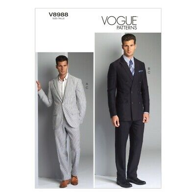 £19.50 • Buy Vogue Sewing Pattern V8988 Men's Suit Jacket And Trousers