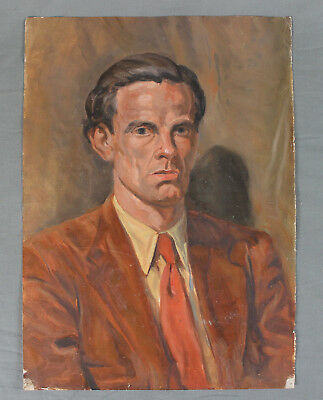 A G Horner WWII Oil Painting Male Portrait  • 125£