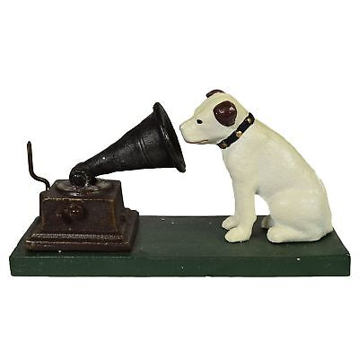 HMV Nipper Dog And Phonograph Gramophone Music Ornament Figurine Cast Iron • 19.99£