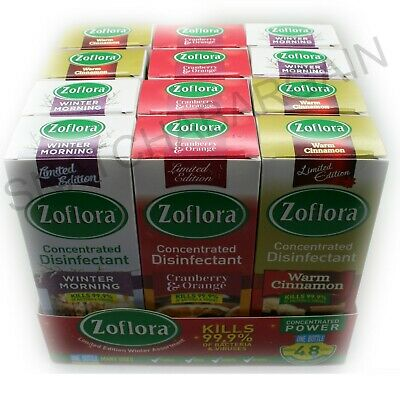 12x 120ml ZOFLORA CHRISTMAS DISINFECTANT WINTER EDITION  • 18.99£