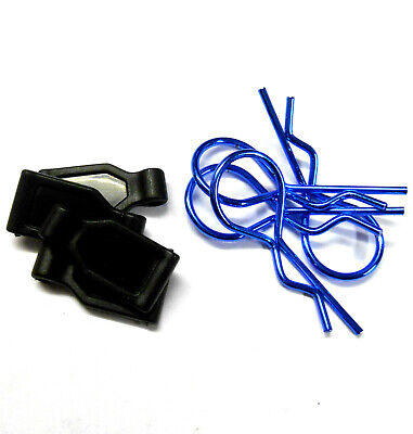SGF-2B 1/10 1/8 Scale Medium Navy Blue Body Cover Clips X 4 With Grips RC • 2.50£