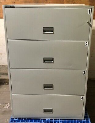 Schwab 5000 Fireproof 4 Drawer Lateral File Cabinet 4HD36-5, With Keys • 489$