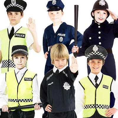 £9.99 • Buy Police Cop Officer Boys Fancy Dress Emergency Services Uniform Childrens Costume