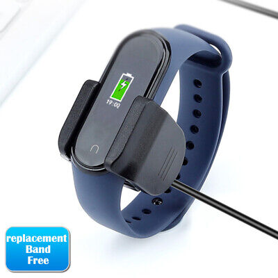 $3.99 • Buy For Xiaomi Mi Band 3 4 Fitness USB Cable Clamp Charger Without Remove Strap