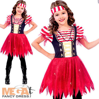 High Seas Pirate Girls Fancy Dress World Book Day Caribbean Kid Children Costume • 15.49£