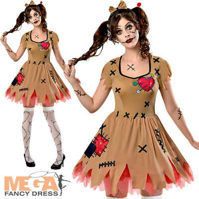 £20.49 • Buy Miss Voodoo Doll Ladies Halloween Fancy Dress Womens Adults Dolly Costume Outfit