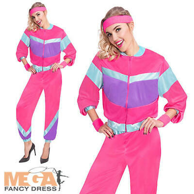 80s Shell Suit Ladies Fancy Dress 1980s Retro Tracksuit Adults Womens Costume  • 17.49£