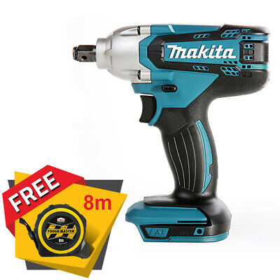 Makita DTW190Z 18V 1/2  Square Impact Wrench Body Only + Free Tape Measures 8M • 77.90£