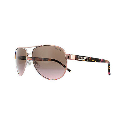 Ralph By Ralph Lauren Sunglasses 4004 915814 Rose Gold Violet Gradient Brown • 65£