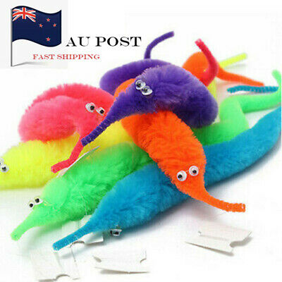 AU13.77 • Buy AU STOCK 20Pcs Magic Trick Wiggly Worm Furry Teaser Funny Party Toy Xmas Gift