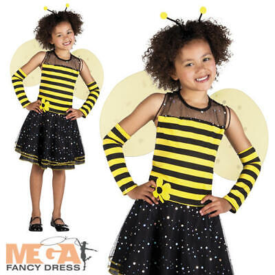 Bumblebee Girls Fancy Dress Insect Bee Animal Kids World Book Day Costume Outfit • 14.99£